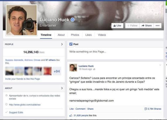 turismo sexual Luciano Huck