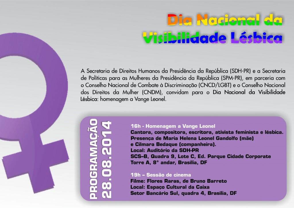 Visibilidade Lesbica 2014 convite