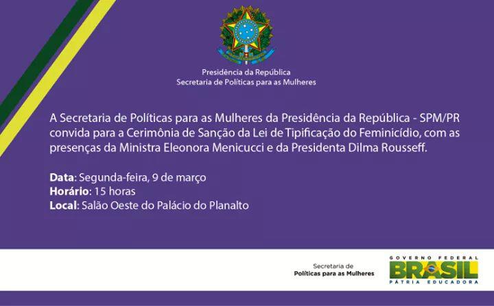 convite-sancao-lei-feminicidio_09-03-2015