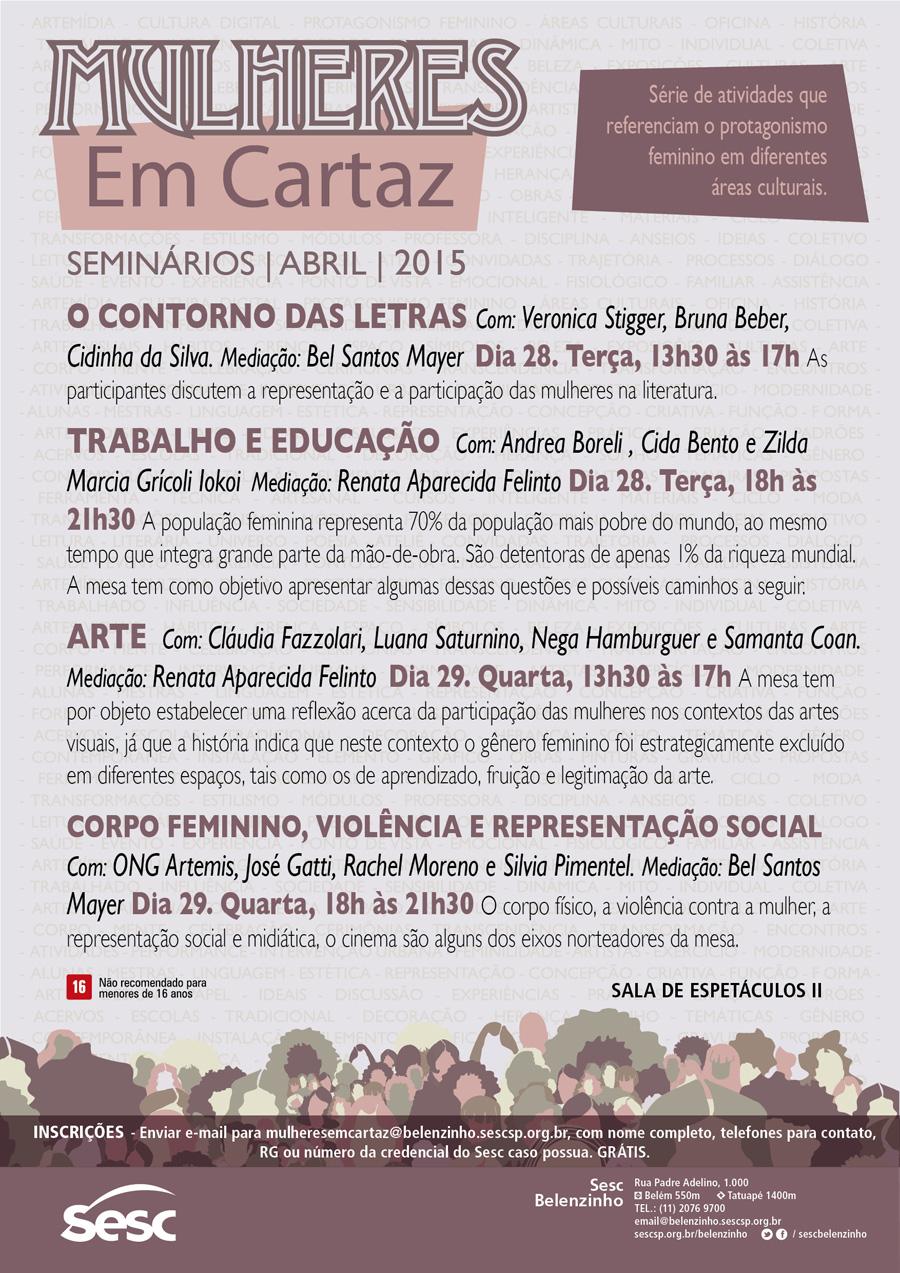 Mulheres em cartaz_Seminario Mulheres