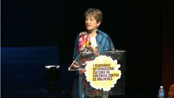 Lori Heise realiza palestra no I Seminário Internacional Cultura de Violência contra as Mulheres
