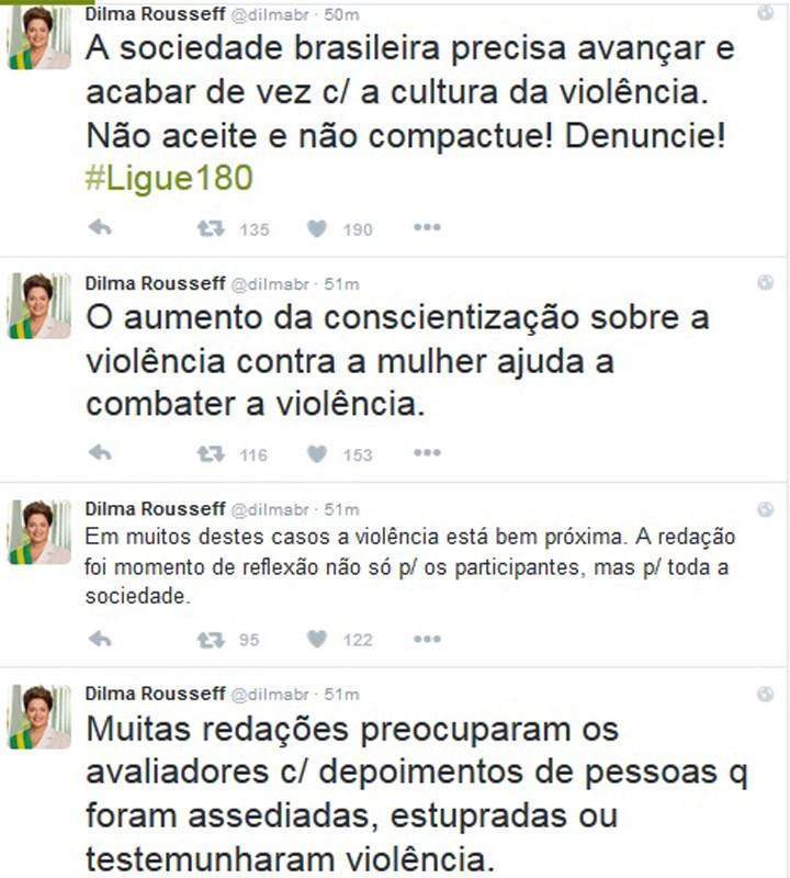 twitter dilma_enem_violencia contra mulher