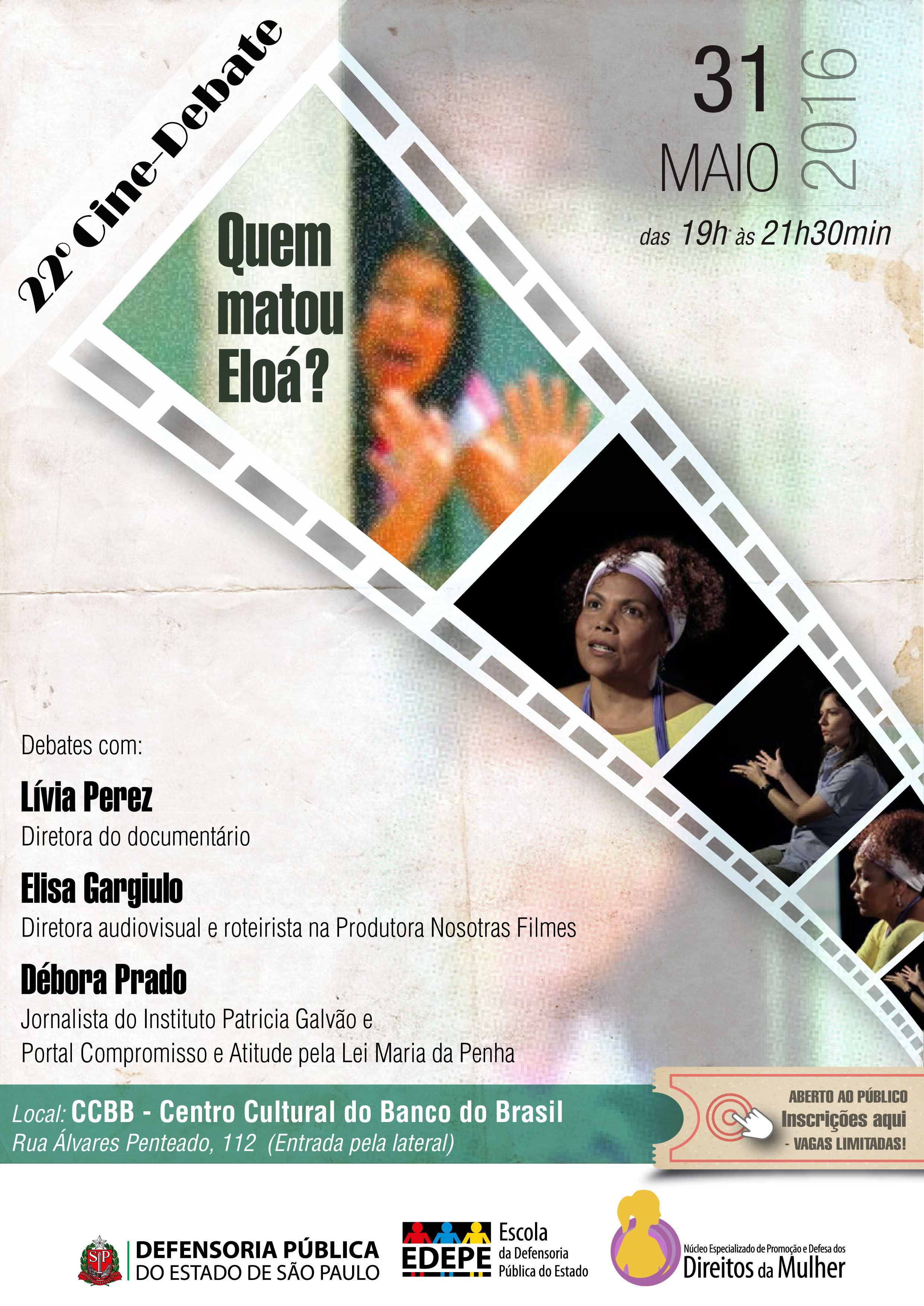 Cartaz_Cine_Debate_QuemMatouEloa_31052016
