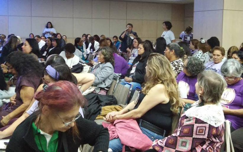 Mais de duzentas PLPs vindas de todo o Estado de São Paulo debateram durante três dias sua atuação no contexto atual das políticas de enfrentamento à violência contra as mulheres (Foto: Edna Aparecida Silva)