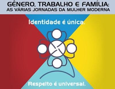 Cartaz evento Gênero, Trabalho e Família: as Várias Jornadas da Mulher Moderna - Senado, 26/03/2014