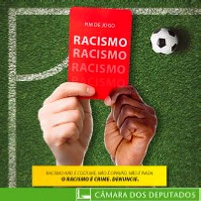 """Cartaz campanha """"Fim de jogo para o racismo"""""""