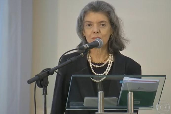 Ministra Cármen Lúcia anuncia o lançamento da Campanha Justiça pela Paz em Casa
